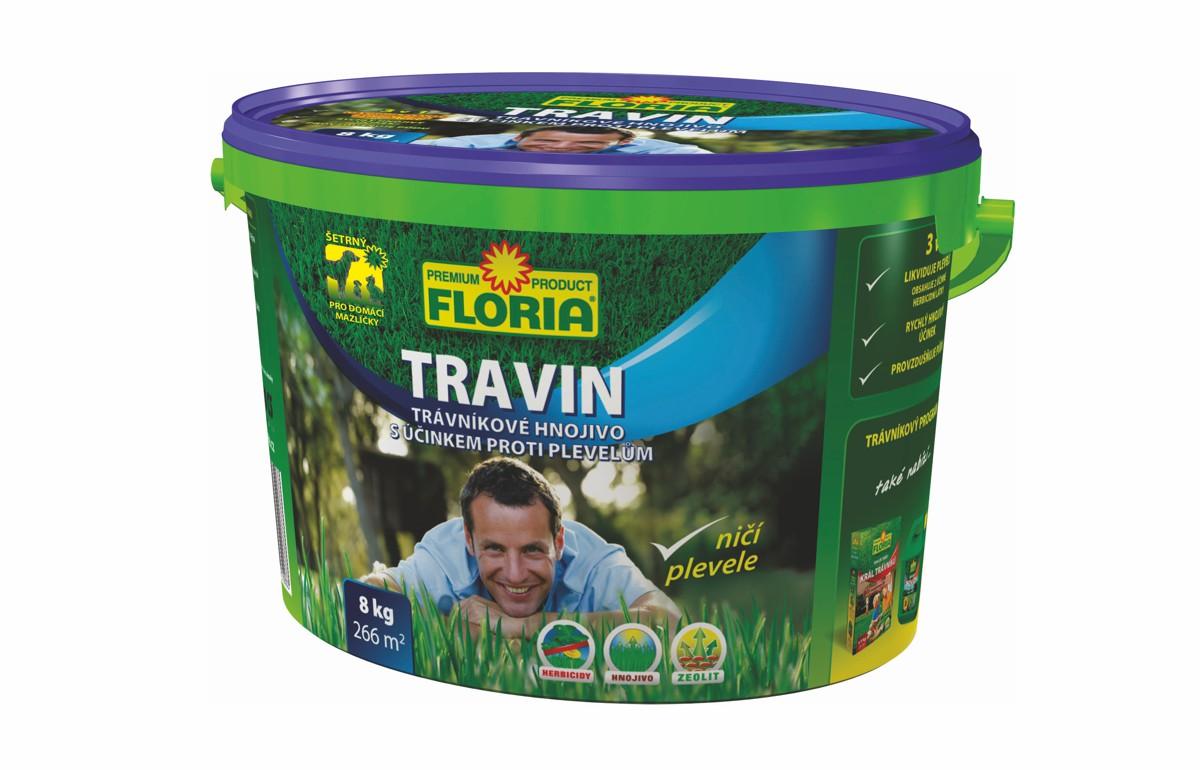 TRAVIN Trávníkové hnojivo s účinkem proti plevelům 3 v 1